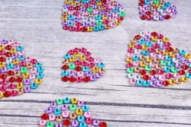 Стразы Сердца мозаика 22-35 мм 14 шт DZ618 0982