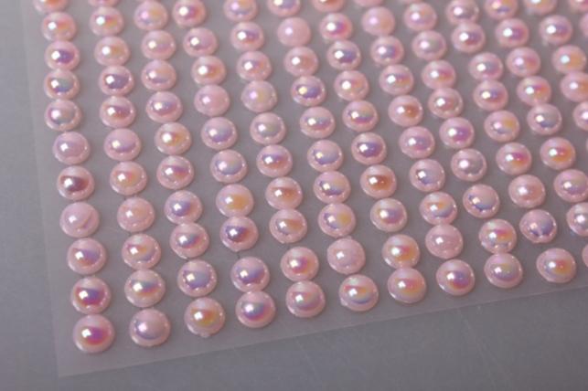 стразы светло-розовые на липучке 6мм 247шт dz245