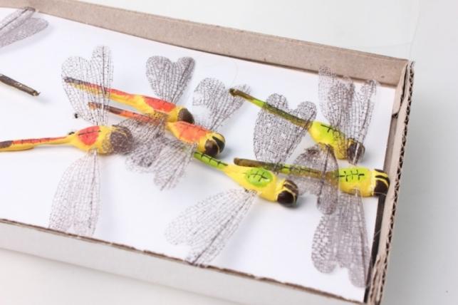 Стрекоза искусственные с прозрачными крыльями (12 шт)