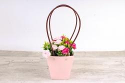 Сумка для цветов  розовый  влагостойкая М14