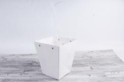 Сумка для цветов Белая трапеция