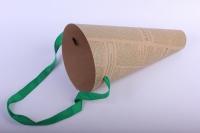 Сумка для цветов Газета зеленая - цена за шт. (Код F11)