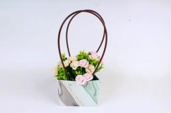 Сумка для цветов   Оникс мятный  влагостойкая М13