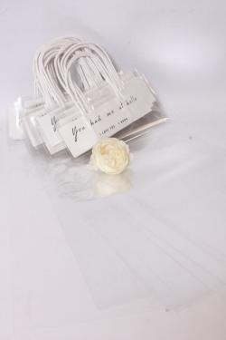 Сумка для цветов прозрачная с ручкой19*45см (20шт в уп) М405