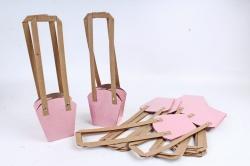 Сумка для цветов розовая (10шт в уп) W100
