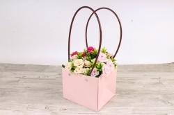Сумка для цветов розовый влагостойкая М12