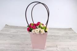 Сумка для цветов   розовая влагостойкая М15