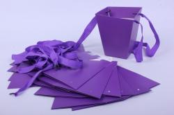 Сумка для цветов Трапеция 13*7*15см Фиолетовая (12шт в уп)  цена за уп