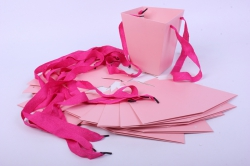 Сумка для цветов Трапеция 13x13 h=15см Розовая (12шт в уп)  цена за уп