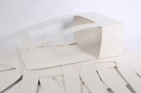 Сумка-корзинка прямоугольная для цветов - белая (10шт в уп.) (цена за 1шт)