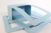 Сумка-корзинка прямоугольная для цветов - голубая (10шт в уп.) (цена за 1шт)