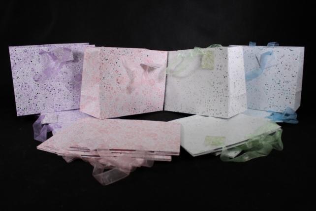 Сумка  Люкc Стилизованные цветы с серебром 23*18*10 (20 шт/уп) L1028  (Цена за 1шт)