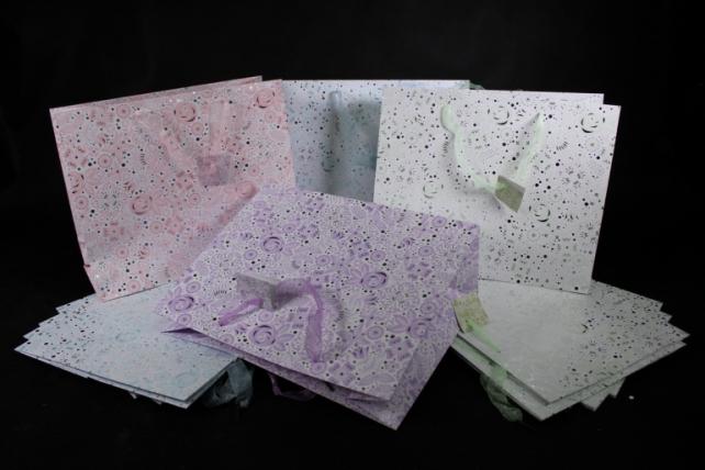 Сумка  Люкc Стилизованные цветы с серебром 32*26*12  (20 шт/уп) L1027  (Цена за 1шт)