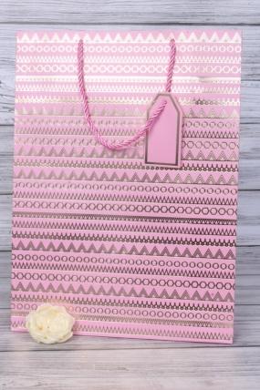 Сумка Люкс 31*44*12 розовый  (12шт в уп) Цена за 1шт L111