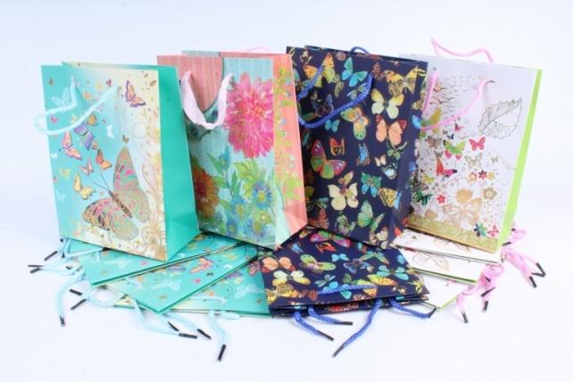 Сумка Люкс Цветы и Бабочки  18*23*8см  10333-18-N  (М)