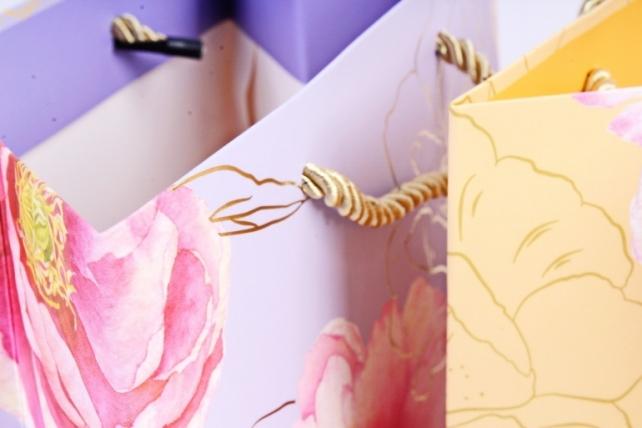 Сумка Люкс Цветы-контуры  (20шт/уп)4микс L711 Цена за 1шт