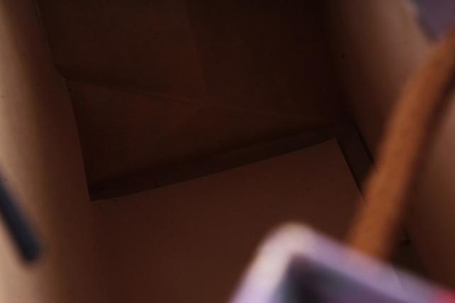 Сумка Люкс Крафт Цветы, Полоска  (12шт/уп) L225 Цена за 1шт