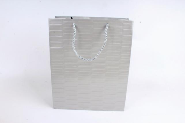 Сумка Люкс Тиснение полоска серебро (12шт в уп) Цена за 1шт  L46
