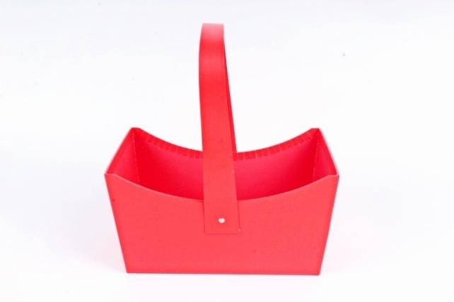 Сумка под цветы, картон,  красный (W9633-red) 9449М