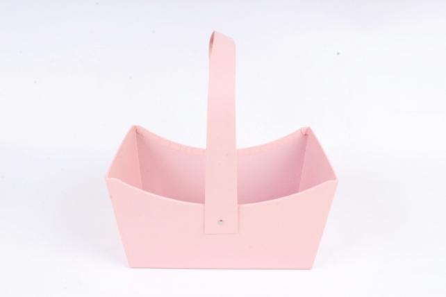 Сумка под цветы, картон,  розовый (W9634) 2991М