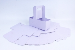 Сумка-корзинка для цветов с ручкой сирень  (10шт в уп)  цена за уп  F15