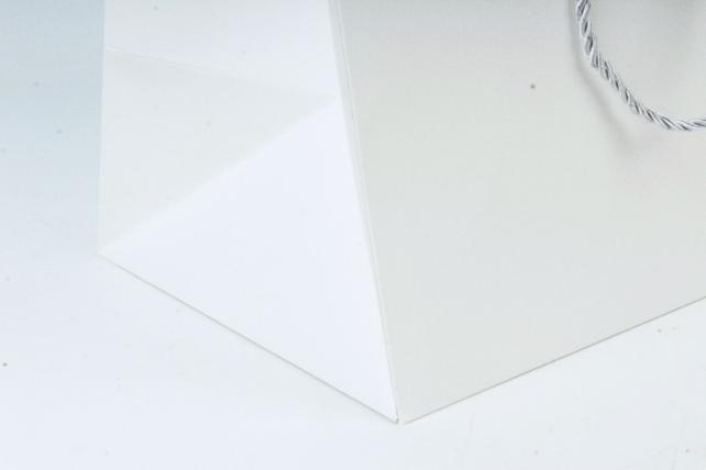 Сумка  Люкс однотонная белая L53 Цена за 1шт (уп 12шт)