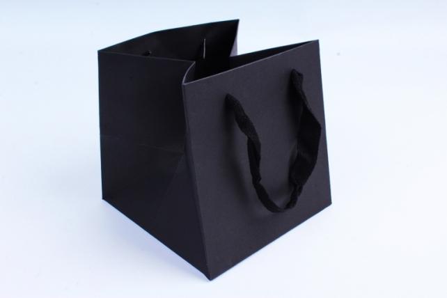 Сумка  Люкс Однотонная чёрная    (12 шт/уп)  L61