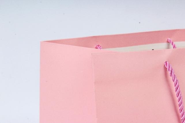 Сумка  Люкс однотонная розовая L53 Цена за 1шт (уп 12шт)