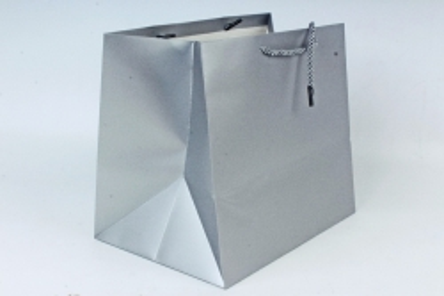 Сумка  Люкс однотонная  серебро L53 Цена за 1шт (уп 12шт)