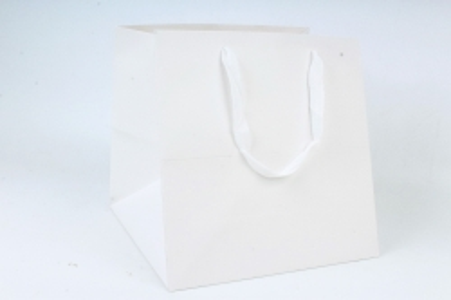 Сумка  Люкс однотонная  КУБИК  белая L061 Цена за 1шт (уп 12шт)
