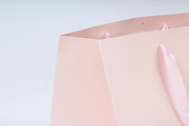 Сумка  Люкс однотонная  КУБИК  розовая L062 Цена за 1шт (уп 12шт)