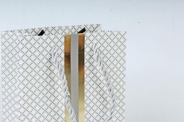 Сумка  Люкс Тиснение золото Полоса белая L45 Цена за 1шт (уп 12шт)