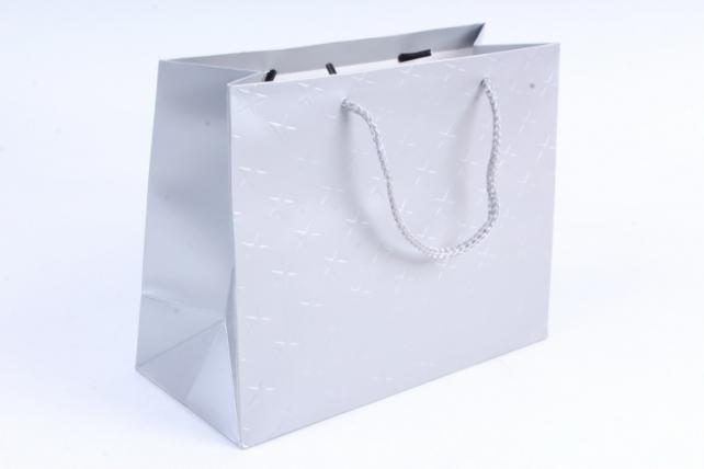"""Сумка  Люкс тиснение """"Звёзды""""  серебро цена за 1 шт(уп 12шт) L610"""
