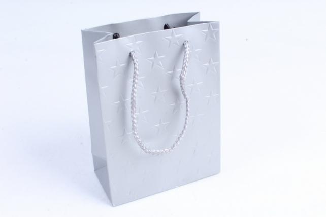 """Сумка  Люкс тиснение """"Звёзды"""" серебро цена за 1 шт(уп 12шт) L617"""