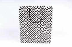 Сумка  Люкс Восточный орнамент черно/белый   (12шт/уп) Цена за 1шт L745