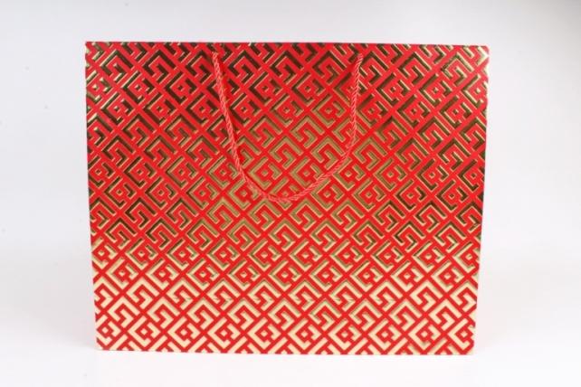 Сумка  Люкс Восточный орнамент красный   (12шт/уп) Цена за 1шт L746
