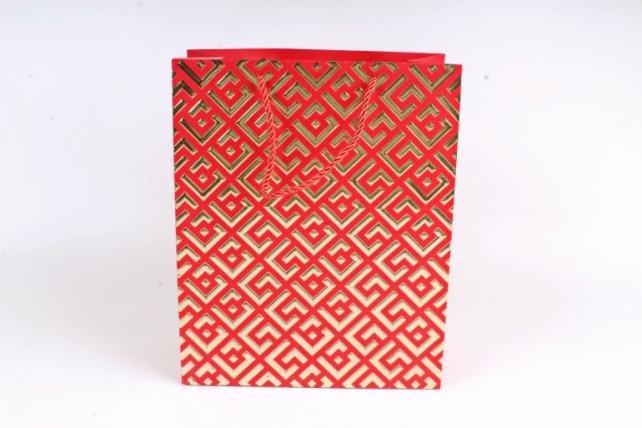 Сумка  Люкс Восточный орнамент красный  (12шт/уп) Цена за 1шт L745
