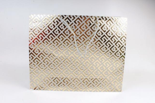 Сумка  Люкс Восточный орнамент серый   (12шт/уп) Цена за 1шт L746