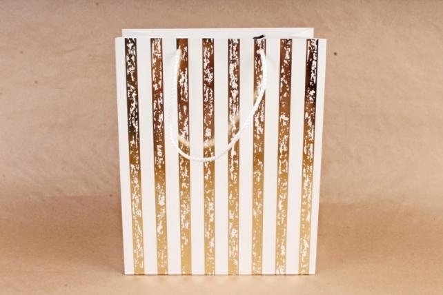 Сумка  Люкс Золотая полоса патина белые  (12шт/уп) Цена за 1шт L759