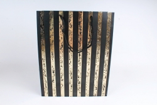 Сумка  Люкс Золотая полоса патина черные   (12шт/уп) Цена за 1шт L759