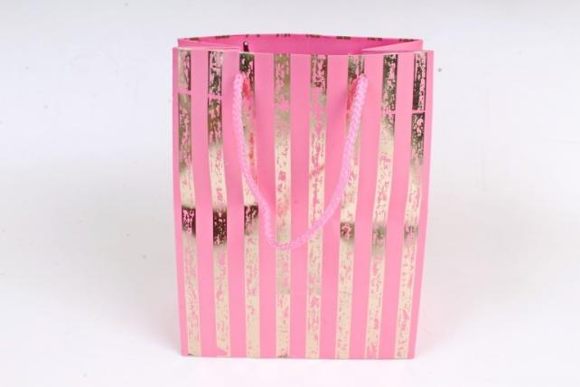 Сумка  Люкс Золотая полоса патина розовый   (12шт/уп) Цена за 1шт L758