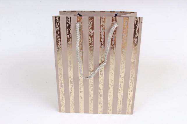 Сумка  Люкс Золотая полоса патина серый  (12шт/уп) Цена за 1шт L758
