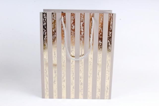 Сумка  Люкс Золотая полоса патина серый   (12шт/уп) Цена за 1шт L759