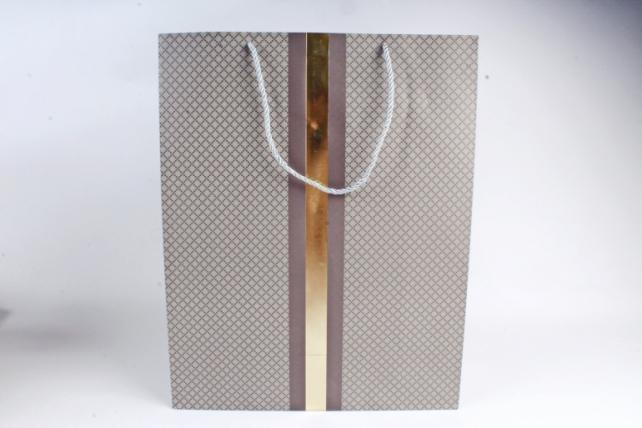 Сумка  Люкс Золотая полоса серый  (12шт/уп) Цена за 1шт L743