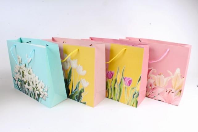 Сумка  Люкс  Цветы с блестками  (12 шт/уп)  Цена за 1шт  L639