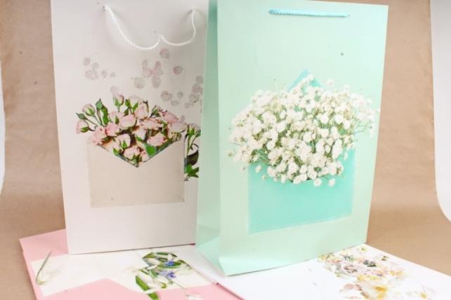 Сумка  Люкс  Цветы с блестками  (12 шт/уп)  Цена за 1шт  L631