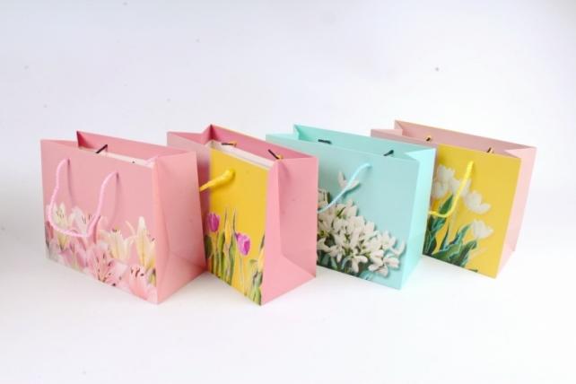 Сумка  Люкс  Цветы с блестками  (12 шт/уп)  Цена за 1шт  L638