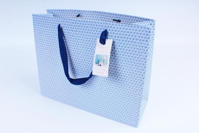 Сумка  Люкс  Рогожка голубо/синяя  L212  Цена за 1шт