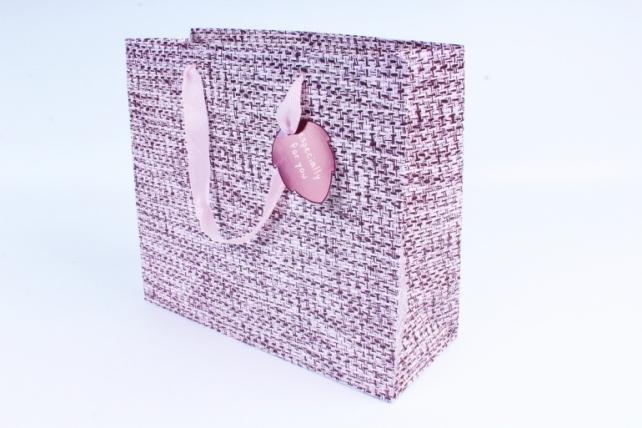 Сумка  Люкс  Вязание бежево/фиолетовая L207 Цена за 1шт
