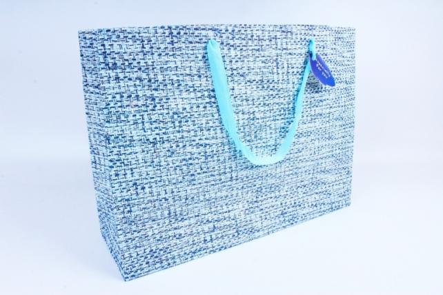 Сумка  Люкс  Вязание голубо/синяя  L208 Цена за 1шт